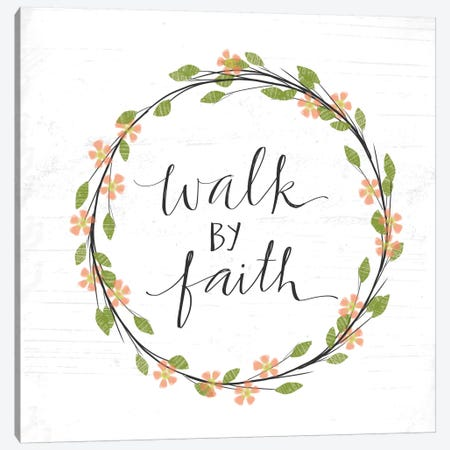 Walk By Faith Canvas Print #DOU29} by Katie Doucette Canvas Art
