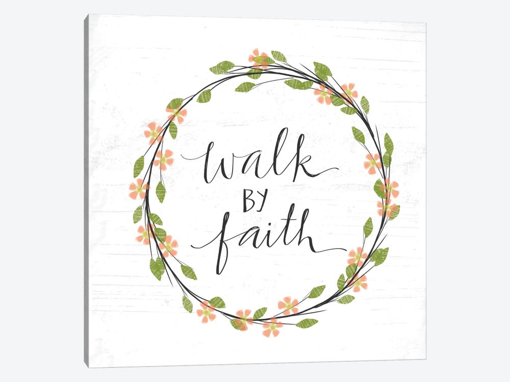 Walk By Faith by Katie Doucette 1-piece Canvas Art