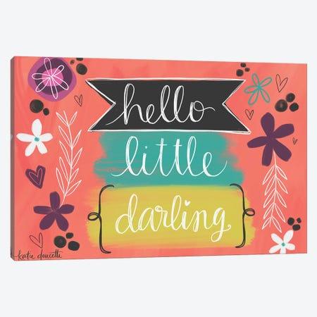 Hello Little Darling Canvas Print #DOU31} by Katie Doucette Canvas Print