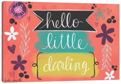 Hello Little Darling Canvas Art Print