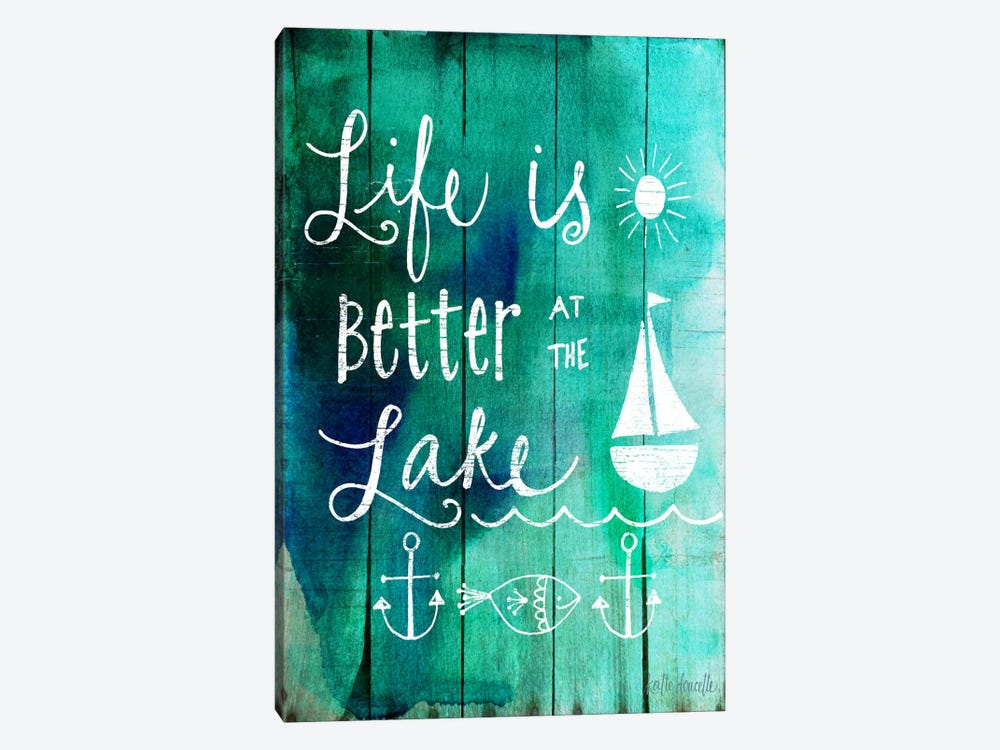 Better At The Lake by Katie Doucette 1-piece Canvas Print