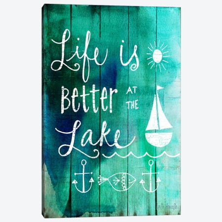 Better At The Lake Canvas Print #DOU3} by Katie Doucette Canvas Print
