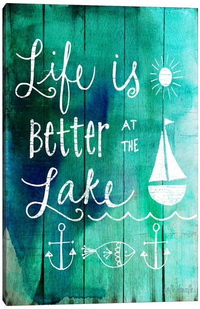 Better At The Lake Canvas Art Print