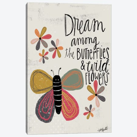 Dream Among The Butterflies Canvas Print #DOU7} by Katie Doucette Canvas Art