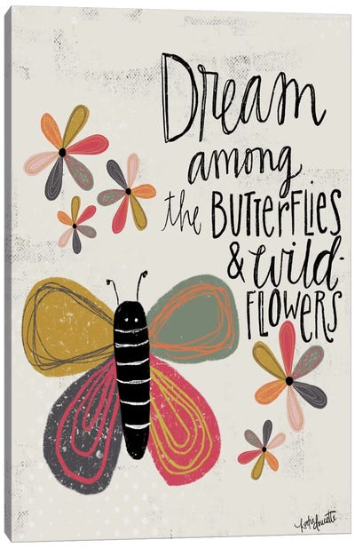 Dream Among The Butterflies Canvas Art Print