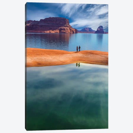 Lone Couple, Lake Powell, Glen Canyon National Recreation Area, Utah, USA Canvas Print #DPA11} by Don Paulson Canvas Artwork