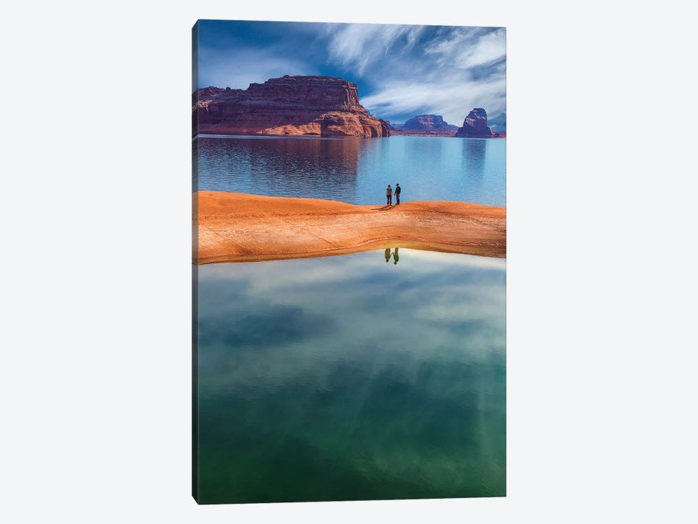Lone Couple, Lake Powell, Glen Canyon National Recreation Area, Utah, USA by Don Paulson 1-piece Canvas Wall Art