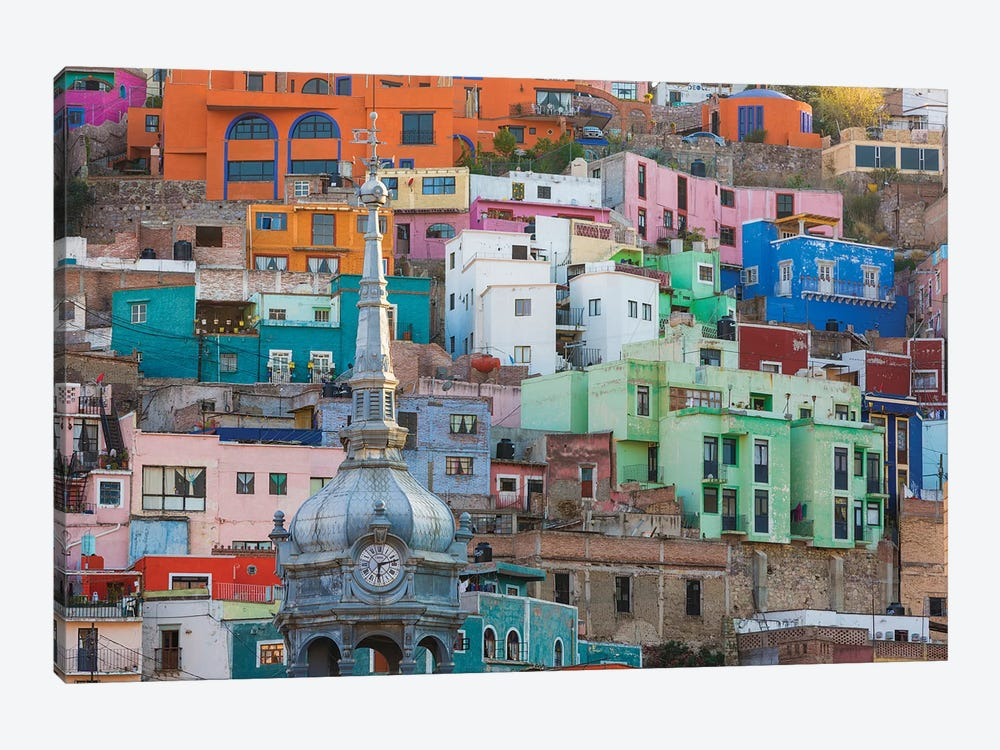 Vibrantly Colored Architecture, Guanajuato, Mexico by Don Paulson 1-piece Canvas Art Print
