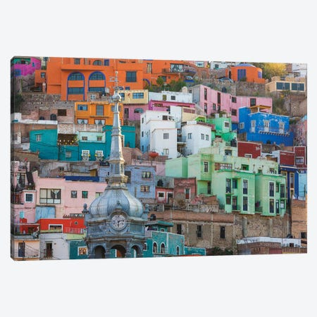 Vibrantly Colored Architecture, Guanajuato, Mexico Canvas Print #DPA4} by Don Paulson Canvas Wall Art