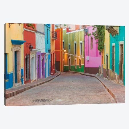 Colorful Streetscape, Guanajuato, Mexico Canvas Print #DPA6} by Don Paulson Canvas Wall Art