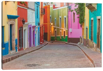 Colorful Streetscape, Guanajuato, Mexico Canvas Art Print
