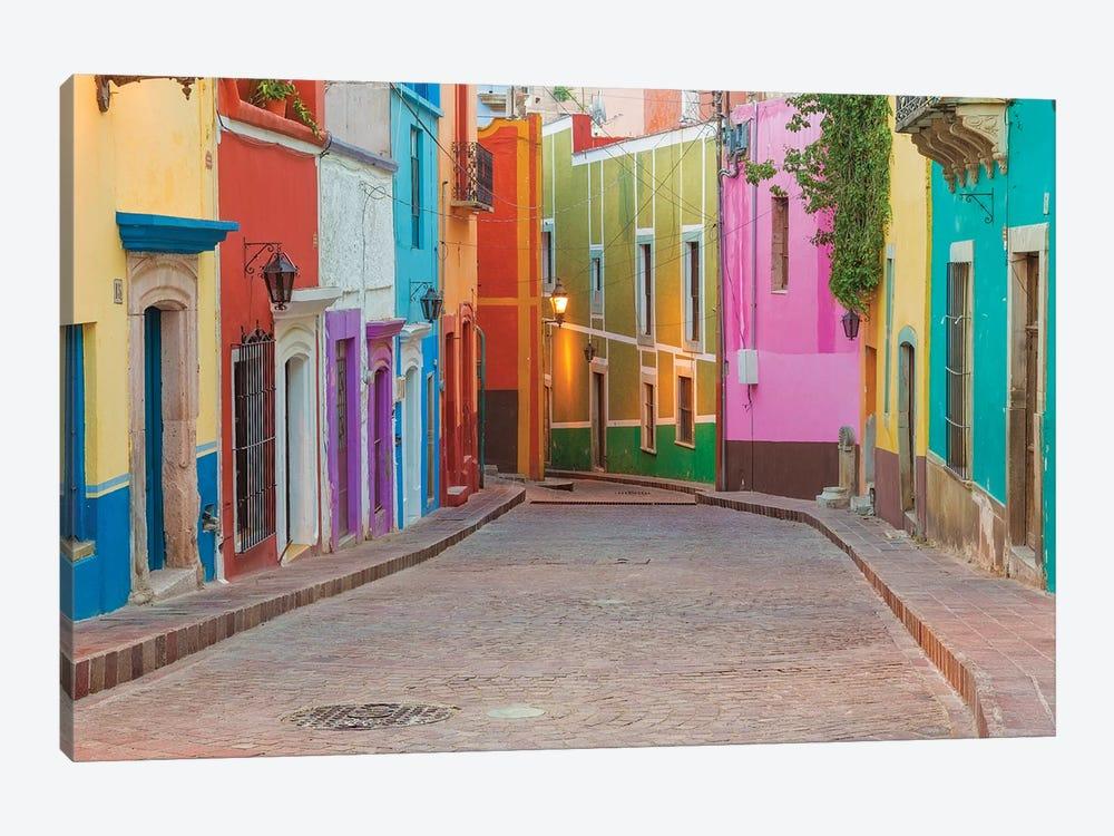 Colorful Streetscape, Guanajuato, Mexico by Don Paulson 1-piece Canvas Art Print