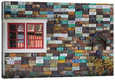 License Plate Residence, Crested Butte, Gunnison County, Colorado, USA Canvas Art Print