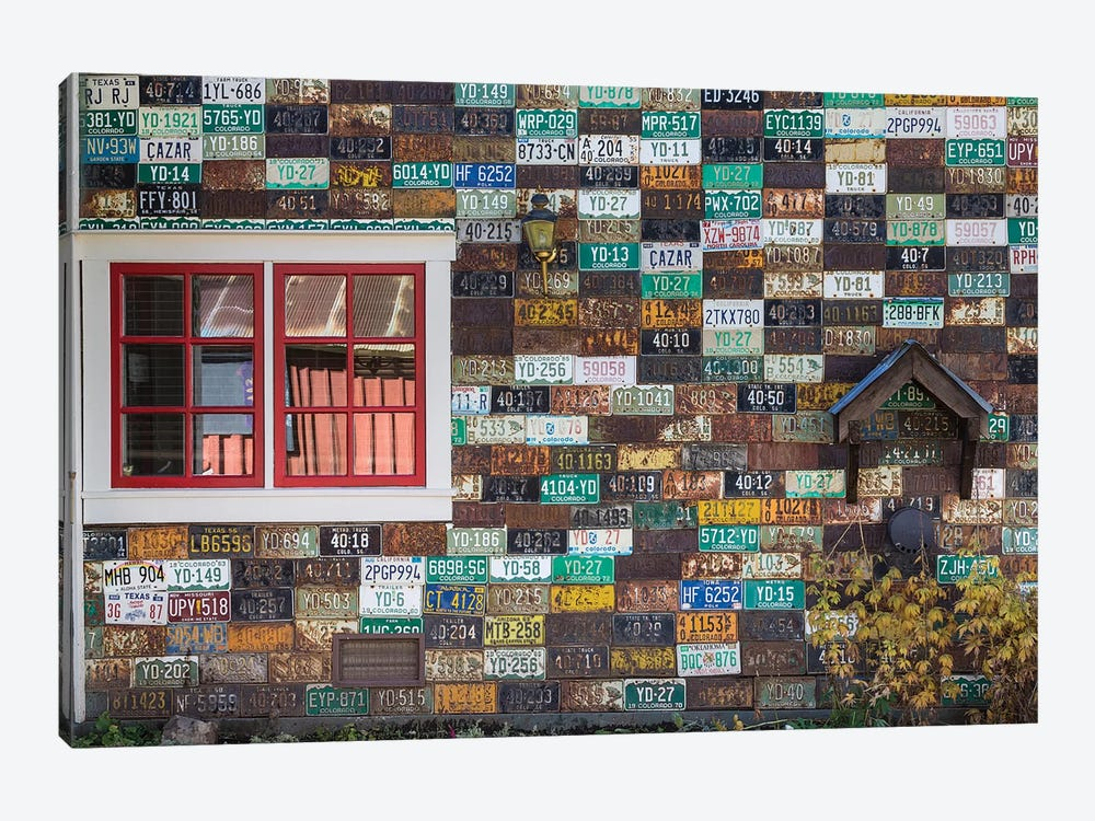 License Plate Residence, Crested Butte, Gunnison County, Colorado, USA by Don Paulson 1-piece Art Print