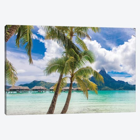 Tropical paradise, Bora Bora, French Polynesia Canvas Print #DPE11} by Douglas Peebles Canvas Art