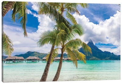 Tropical paradise, Bora Bora, French Polynesia Canvas Art Print