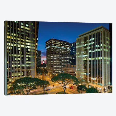 Downtown Honolulu, Oahu, Hawaii Canvas Print #DPE15} by Douglas Peebles Canvas Art Print