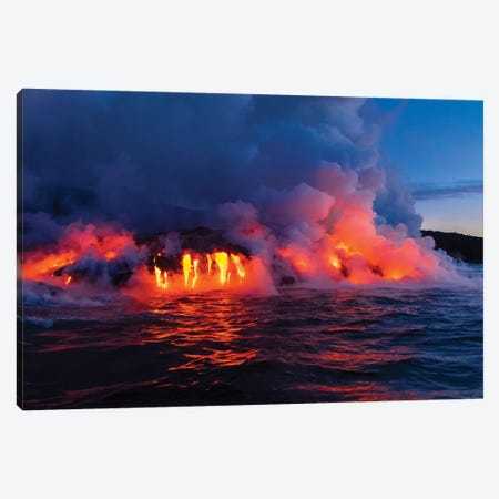Lava Boat Tour, Kilauea Volcano, Hawaii Volcanoes National Park, Hawaii II Canvas Print #DPE6} by Douglas Peebles Canvas Wall Art