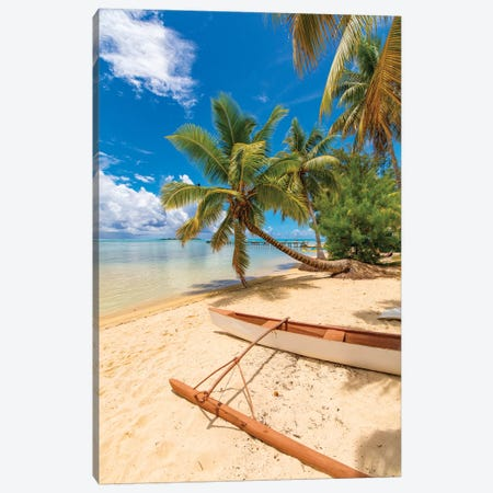 Les Tipaniers, Tiahura, Moorea, French Polynesia Canvas Print #DPE7} by Douglas Peebles Canvas Art