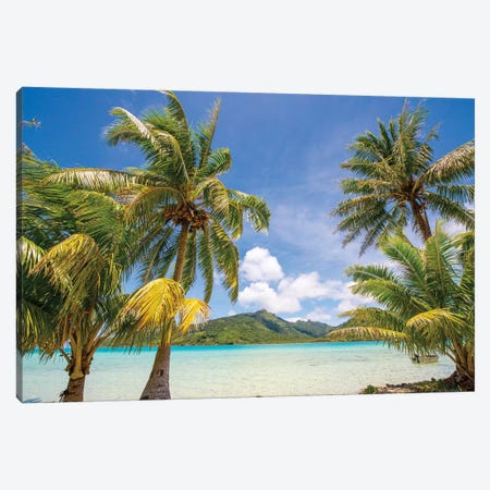 Snorkeling and lunch on Motu Marimaora, Huahine, French Polynesia Canvas Print #DPE9} by Douglas Peebles Art Print