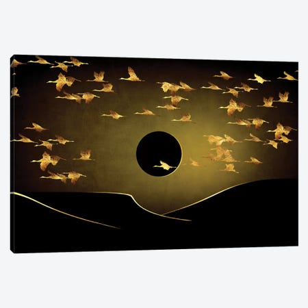 Desert Eclipse Canvas Print #DPH14} by Daphne Horev Canvas Wall Art