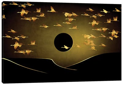 Desert Eclipse Canvas Art Print