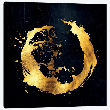 Digital Enso I Canvas Print #DPH15} by Daphne Horev Canvas Artwork