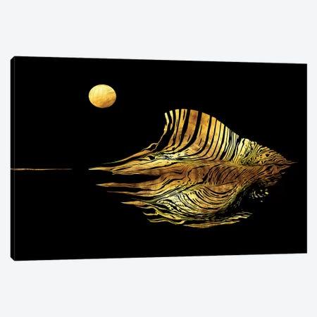 Haiku No.10 - Moonstruck Seascape Canvas Print #DPH25} by Daphne Horev Canvas Print