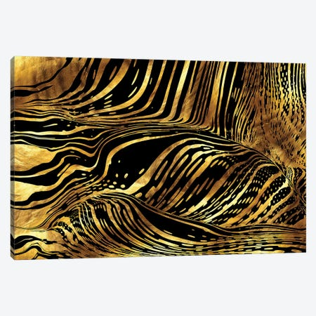 Liquid Pouring Gold Canvas Print #DPH30} by Daphne Horev Canvas Print