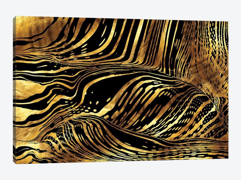 Liquid Pouring Gold by Daphne Horev 1-piece Art Print