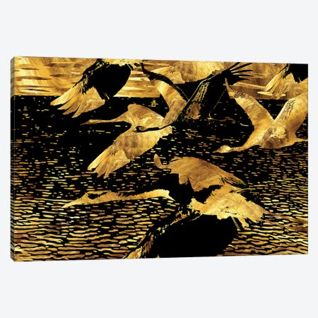 Longing In Motion Canvas Print #DPH31} by Daphne Horev Art Print