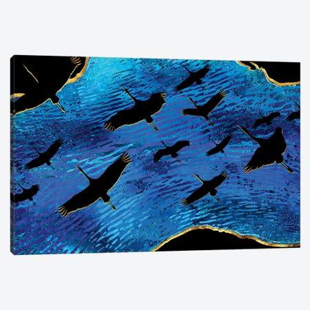 Magical Passes Over Seas 3-Piece Canvas #DPH33} by Daphne Horev Canvas Print