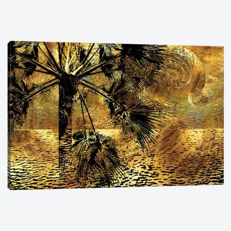 Tropical Nocturne Canvas Print #DPH48} by Daphne Horev Canvas Artwork