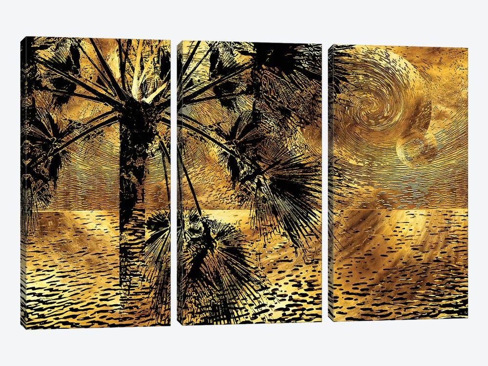 Tropical Nocturne by Daphne Horev 3-piece Canvas Art