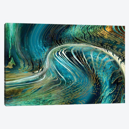 Underwater Wave Canvas Print #DPH54} by Daphne Horev Canvas Wall Art