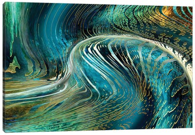 Underwater Wave Canvas Art Print