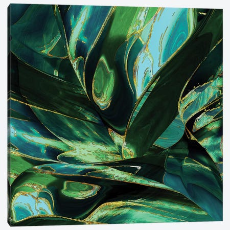 Wild Green 3-Piece Canvas #DPH55} by Daphne Horev Canvas Artwork