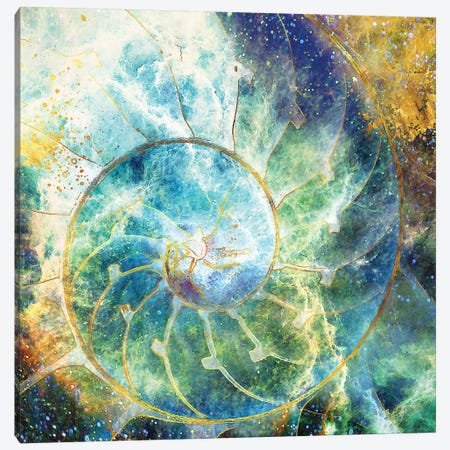 As In Heaven, So On Earth Canvas Print #DPH6} by Daphne Horev Art Print