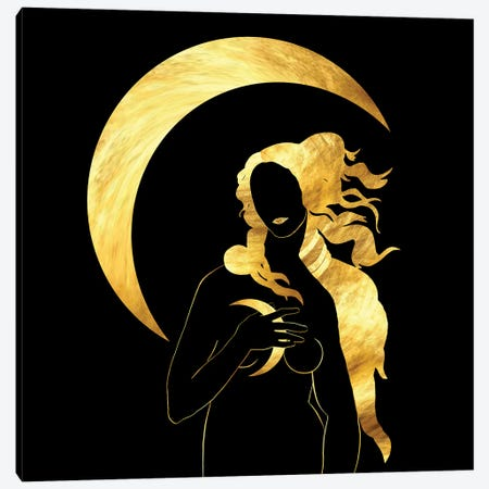 Full Moon Canvas Print #DPH78} by Daphne Horev Canvas Print
