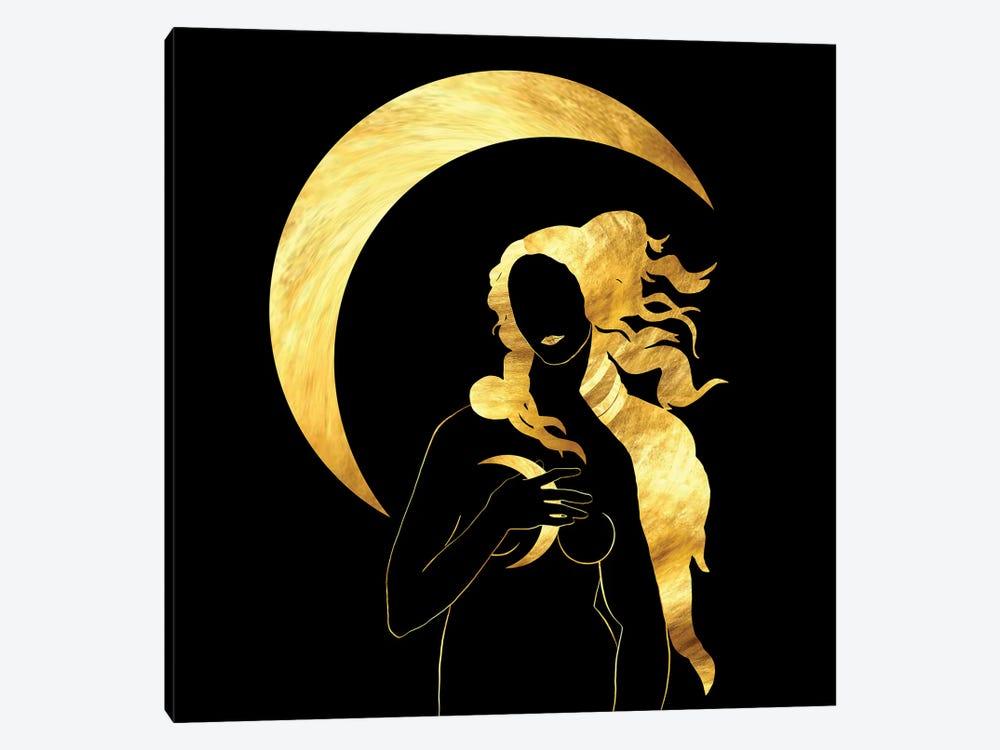 Full Moon by Daphne Horev 1-piece Canvas Art Print