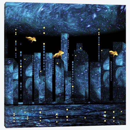 Silent City Canvas Print #DPH84} by Daphne Horev Canvas Art Print