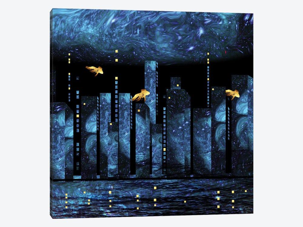 Silent City by Daphne Horev 1-piece Canvas Wall Art