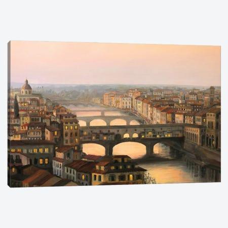 Florence Ponte Vecchio Canvas Print #DPT100} by kirilart Canvas Art