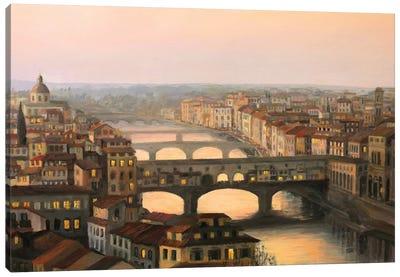 Florence Ponte Vecchio Canvas Art Print