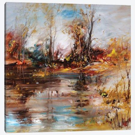 Landscape On The Lake Shore Canvas Print #DPT103} by kvocek Canvas Artwork