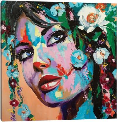 Flowery Mood Canvas Art Print
