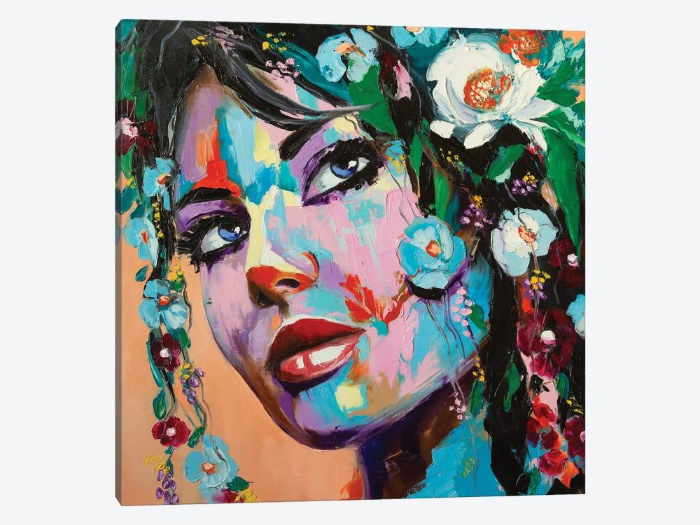 Flowery Mood by LanaBrest 1-piece Canvas Artwork