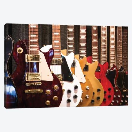 Electric Guitars Canvas Print #DPT108} by lteck Canvas Artwork