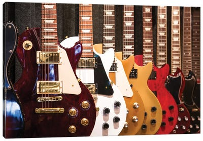 Electric Guitars Canvas Art Print