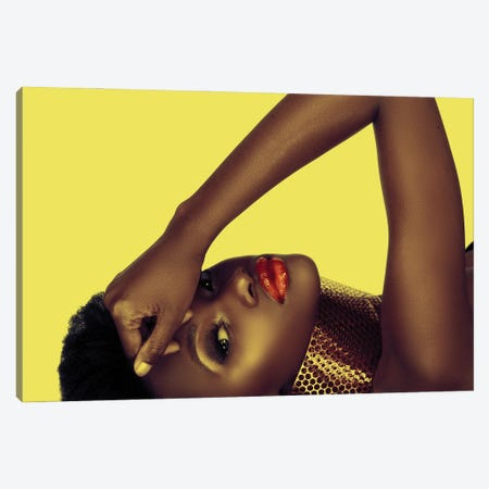 Beautiful African American Woman Canvas Print #DPT109} by lubavnel Canvas Artwork